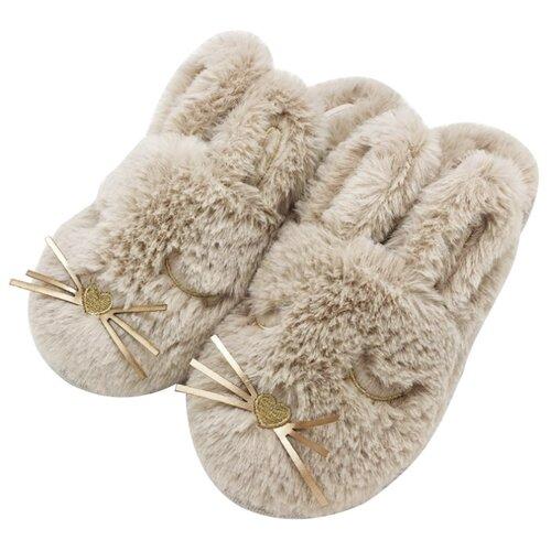 Тапочки Спящие зайчики Halluci бежевый 36-37 (Halluci)Домашняя обувь<br>