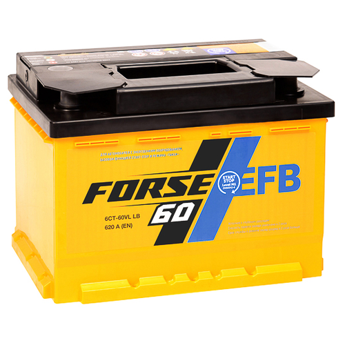 Аккумулятор Forse EFB 6СТ-60VLR LB аккумулятор forse 6ст 65vl jis о п