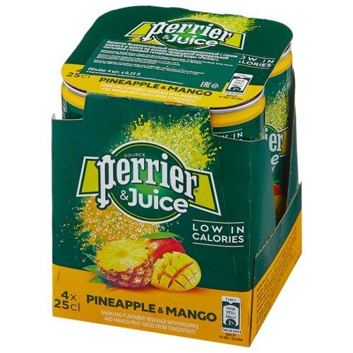 Газированный напиток Perrier ананас и манго , 0.25 л, 4 шт.