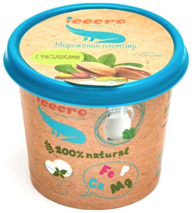 Мороженое ICECRO пломбир фисташковый с фисташками 75 г