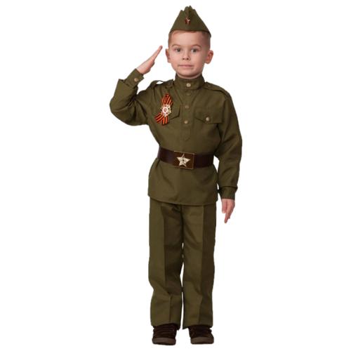 Купить Костюм Батик Солдат (8008), коричневый, размер 104, Карнавальные костюмы