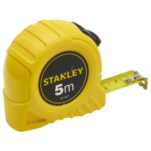 Измерительная рулетка STANLEY 0-30-497 19 мм x 5 м набор stanley ушм болгарка stgs7115 b9 рулетка dwht033662
