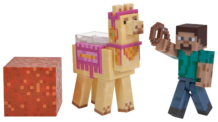 Игровой набор Jazwares Minecraft Стив с Ламой 16602