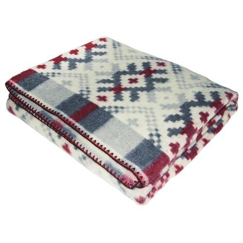 цена на Одеяло ARLONI Ацтеки шерстяной, теплое, 140 х 205 см (серый/красный)