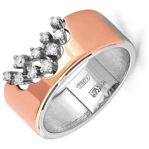 KABAROVSKY Кольцо с 10 бриллиантами из красного золота 11-0943-1000, размер 17 фото