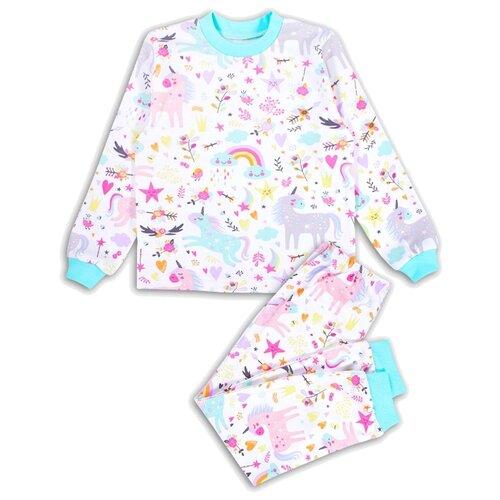 Пижама Веселый Малыш размер 110, белый/розовый пижама веселый малыш размер 104 розовый