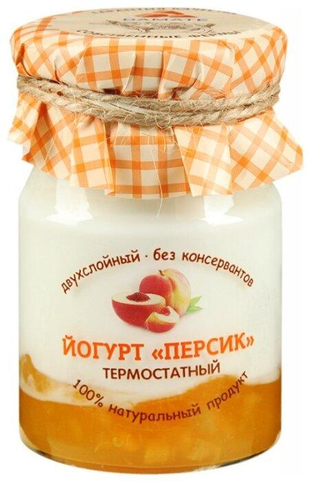 Йогурт Damate персик термостатный двухслойный 3.3%, 190 г