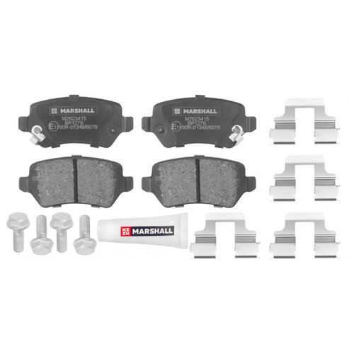 цена на Дисковые тормозные колодки задние Marshall M2623415 для Opel Astra, Opel Zafira, Opel Meriva (4 шт.)