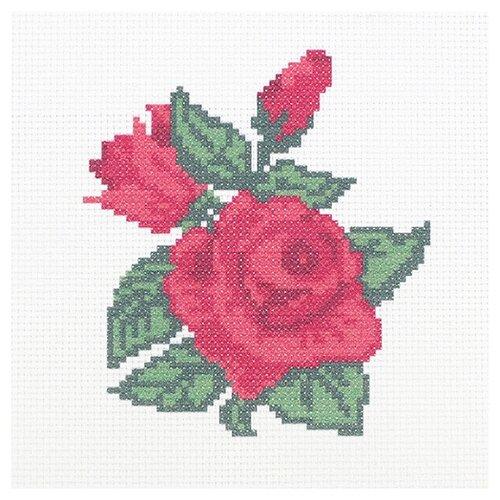 Hobby & Pro Набор для вышивания Бархатные розы 22 х 22 см (ПК-173)
