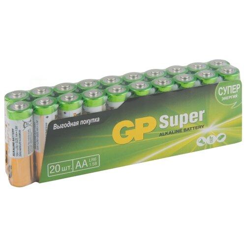 Батарейка GP Super Alkaline AA 20 шт пленка пленка