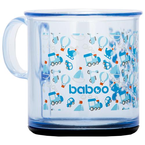 Чашка baboo Transport (8-401) прозрачный/голубой baboo набор baboo transport вилка и ложка 4 мес голубой