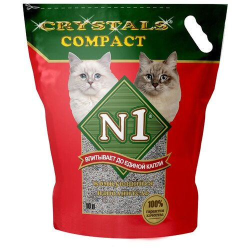 Комкующийся наполнитель N1 Crystals Compact, 10 л