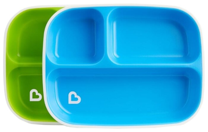 Комплект посуды Munchkin Цветные тарелки секционные (12448)