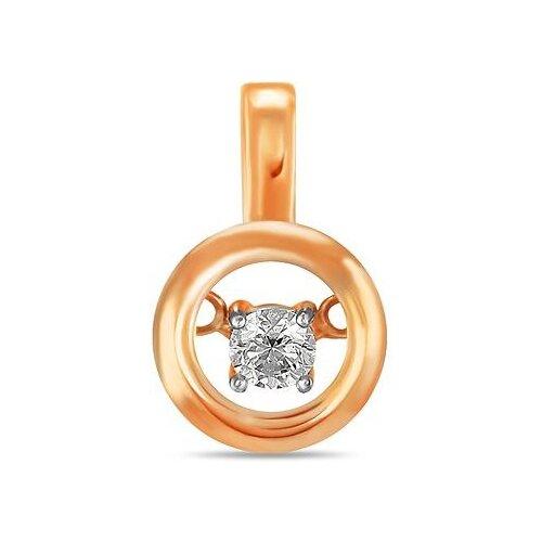 Фото - ЛУКАС Подвеска с 1 бриллиантом из красного золота P01-D-33644 лукас подвеска с 19 бриллиантами из красного золота p01 d 33651