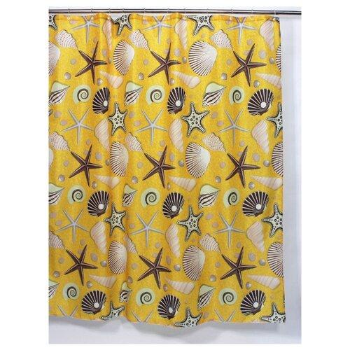 Штора для ванной Bath Plus Seabed Sight 180х180 желтый