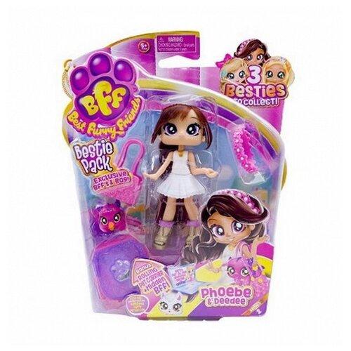 Кукла Headstart Best Furry Friends Bestie с питомцем 2 серия Phoebe, 12 см, 78099