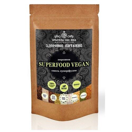 Продукты ХХII века Смесь NANAX Superfood Vegan, порошок, бумажный пакет, 100 г продукты ххii века чиа черная семена 100 г
