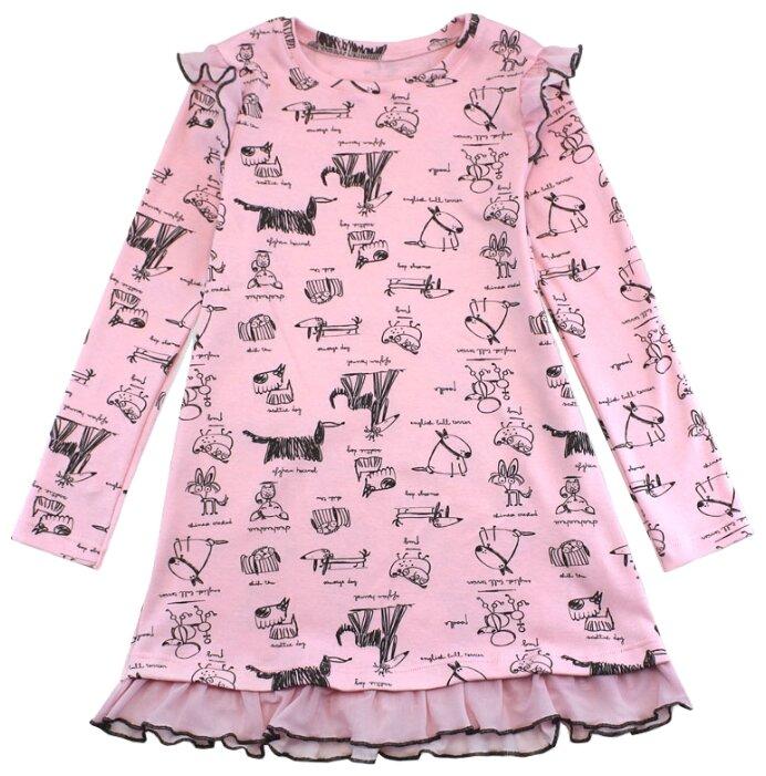 Платье TREND размер 104-56(28), 4030 розовый/собачки