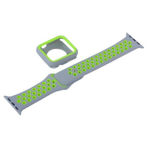 COTEetCI Ремешок W32 Sports Band Suit для Apple Watch 42/44mm серебристый/желтый ремешок для смарт часов coteetci w33 для apple watch series 2 3 4 42 44mm красный