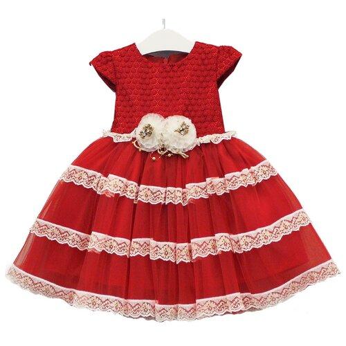 Купить Платье Lilax размер 92, красный/белый, Платья и юбки