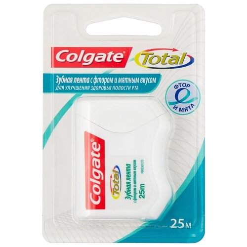 Colgate TOTAL зубная лента с фтором и мятным вкусом, 25 м фото