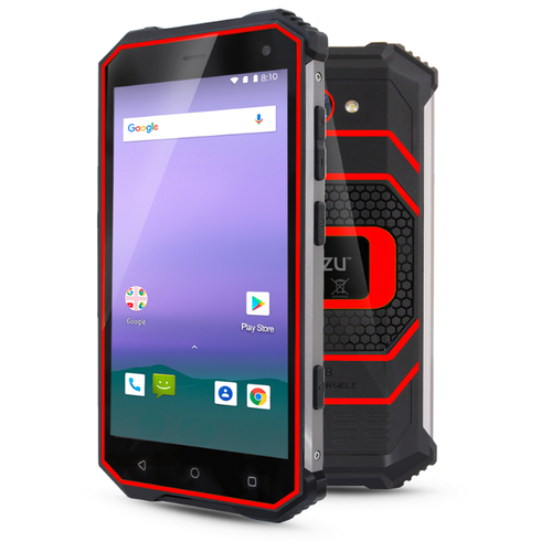 Смартфон Ginzzu RS8502 black/red смартфон