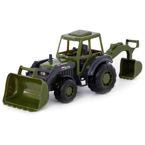 Купить Трактор Полесье Военный Мастер (48714) 27 см зеленый/черный/серый, Машинки и техника