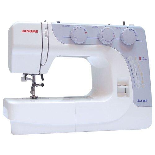 Швейная машина Janome EL545S, бело-голубой janome el545s белый