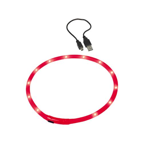 Ошейник Nobby Visible светодиодный 70 см красный
