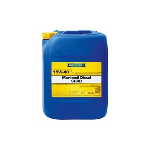 Минеральное моторное масло Ravenol Marineoil Diesel SHPD 15W-40, 20 л минеральное моторное масло ravenol turbo plus shpd sae 15w 40 10 л