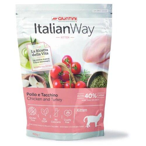 Сухой корм для котят Italian Way с курицей, с индейкой 400 г