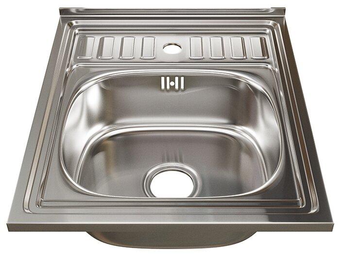 Накладная кухонная мойка Mixline 60х50 (0,6) 3 1/2 50х60см нержавеющая сталь