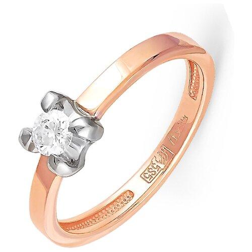 KABAROVSKY Кольцо с 1 бриллиантом из красного золота 11-0651-1000, размер 18.5
