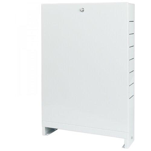 Коллекторный шкаф наружный STOUT ШРН-1 SCC-0001-000045 белый шкаф распределительный stout встроенный 1 3 выхода шрв 0 670х125х404 мм scc 0002 000013