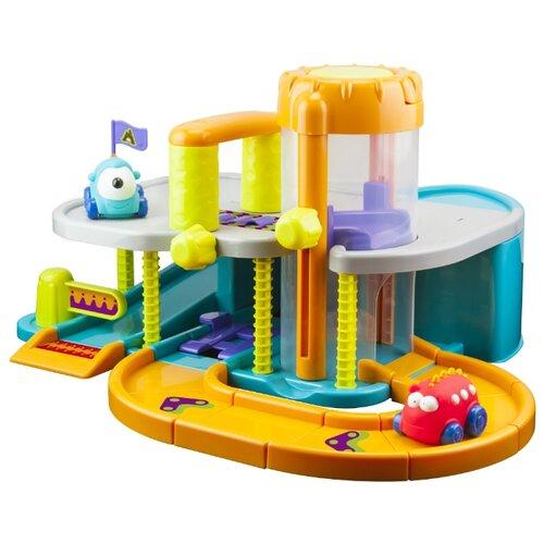 Купить Little hero Городская парковка 9060 голубой/оранжевый/зеленый, Детские парковки и гаражи