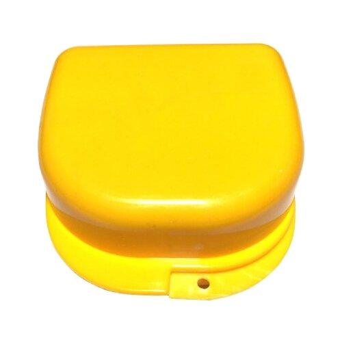 StaiNo Denture Box – Бокс пластиковый, 78*83*45 мм, желтый