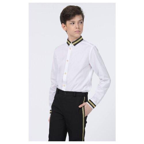 цена Рубашка Смена размер 152/76, белый/золотой онлайн в 2017 году