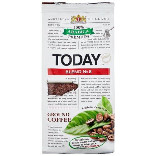 Кофе молотый Today Blend №8, 200 г кофе индийский молотый espresso blend hindica 200 г