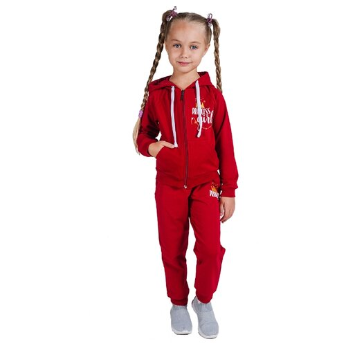 Спортивный костюм Belka размер 104, бордовый