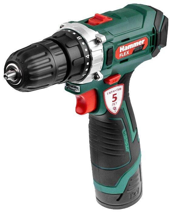 Купить Аккумуляторная дрель-шуруповерт Hammer ACD12CS 26 Н·м зеленый/черный по низкой цене с доставкой из Яндекс.Маркета (бывший Беру)