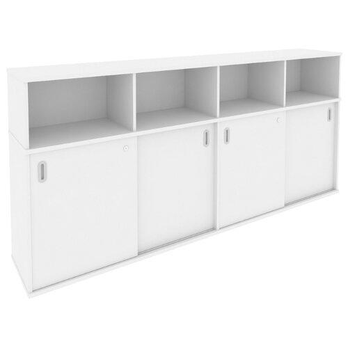 Шкаф офисный Riva Б.ШК-4 233.2x41x109.8 см белый