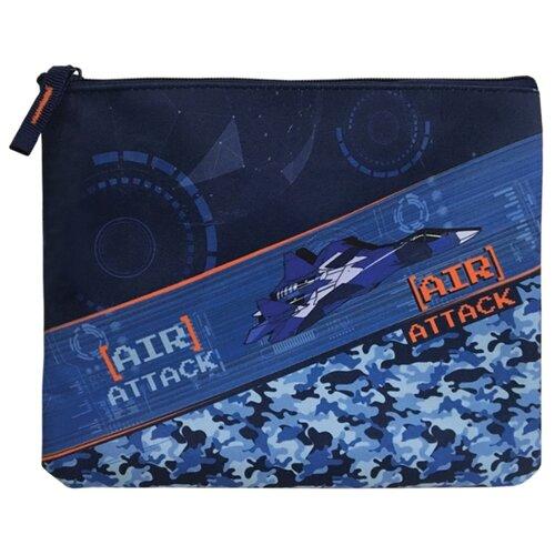 Berlingo Папка для тетрадей Air Attack А5, текстиль, на молнии синий berlingo папка на молнии berlingo lama а5