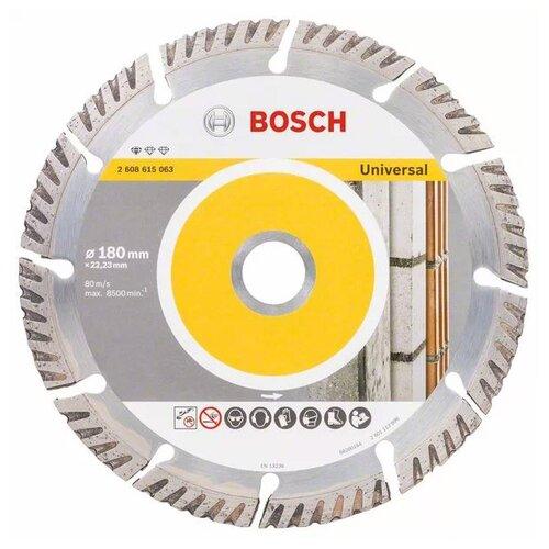 Фото - Диск алмазный отрезной BOSCH Standard for Universal 2608615063, 180 мм 1 шт. диск алмазный отрезной bosch standard for universal turbo 2608602395 150 мм 1 шт