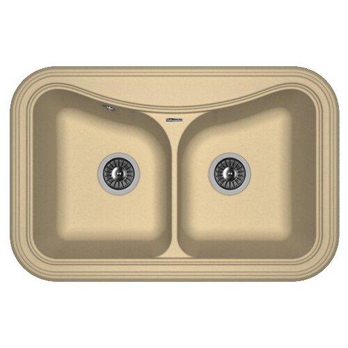 Врезная кухонная мойка 78 см, FLORENTINA Крит-780A FS, капучино врезная кухонная мойка 51 см florentina корсика fs капучино