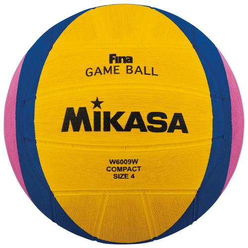 Мяч для водного поло Mikasa W6009W желтый/синий/розовый