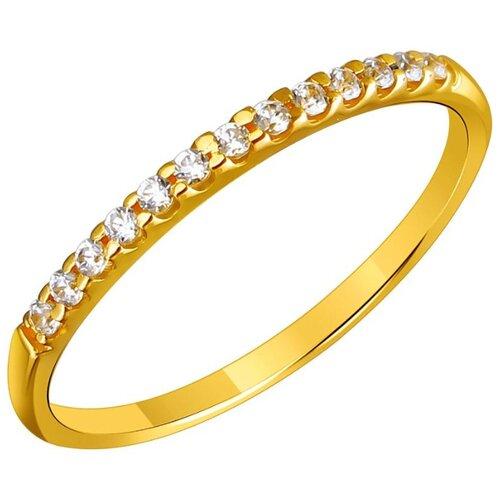 Эстет Кольцо с 19 фианитами из жёлтого золота 01К1311780, размер 19 ЭСТЕТ