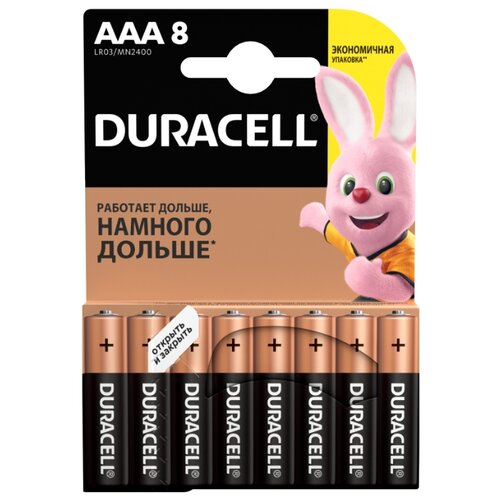 Фото - Батарейка Duracell Basic AAA 8 шт блистер батарейка duracell ultra power aaa lr03 12 шт блистер