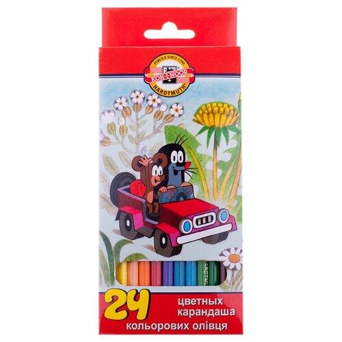 Купить KOH-I-NOOR Карандаши цветные Крот, 24 цветов (3654024026KSRV), Цветные карандаши