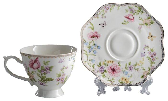Купить Rosario Чайная пара Камелия Ф2-027Р/1 белый по низкой цене с доставкой из Яндекс.Маркета (бывший Беру)