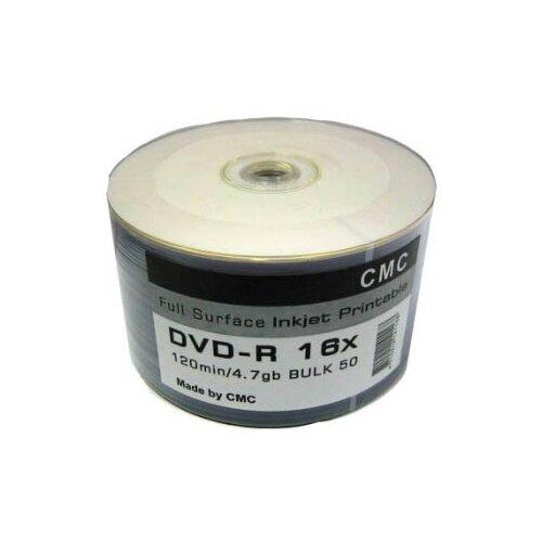 Фото - Диск DVD-R CMC, 4.7 Gb, 16x, Bulk 50 штук диск bd r 25gb cmc 6x full printable bulk упаковка 50 штук